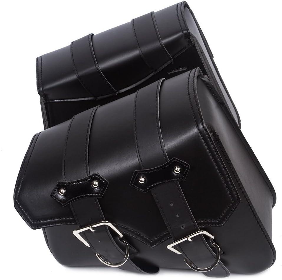WILDKEN Alforjas para Motocicletas Bolsas de Cuero Impermeable de PU Sintético al Aire Libre Paquete Universal de Piel para Harley Davidson (20 * 10 * 23 cm)