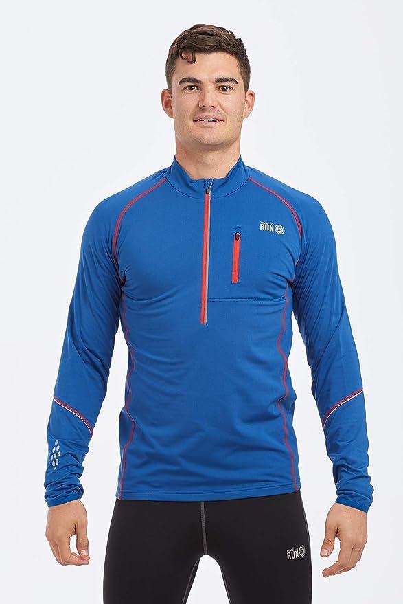 Time To Run Para Hombre Camiseta Térmica De Running Para Invierno De Manga Larga y Cremallera En El Cuello: Amazon.es: Deportes y aire libre