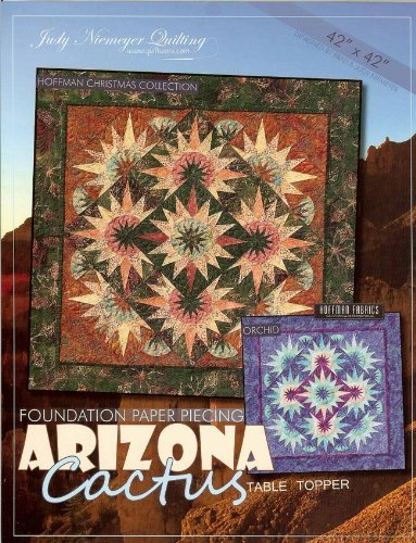 Judy Niemeyer 'Arizona Cactus' Table Topper Foundation Paper Piecing - Outlets Premium Arizona
