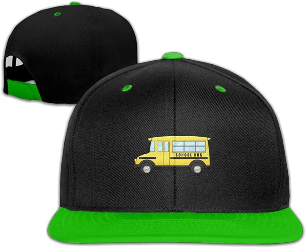 Humaoe School Bus Fashion Peaked Baseball Caps//Hats Hip Hop Cap Hat Adjustable Snapback Hats Caps for Unisex