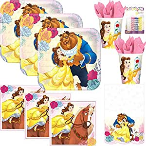 Amazon.com: Beauty and The Beast Party Supplies Pack sirve ...