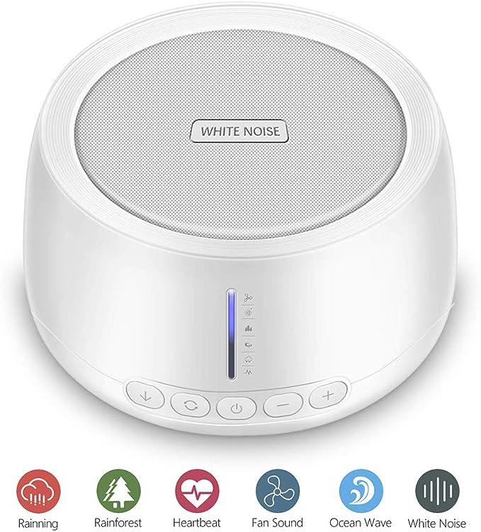 Máquina de sonido de ruido blanco, 30 único ventilador que no se ...