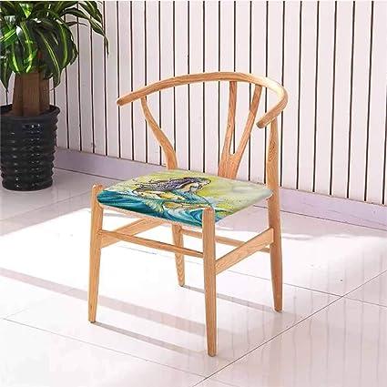 Cojín cuadrado para silla de comedor con diseño de princesa ...