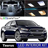 LEDpartsNow 2010-2015 Ford Taurus LED Interior Lights Accessories Replacement Package Kit (11 Pieces). WHITE