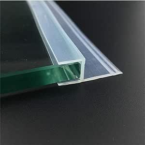 Tira de sellado de cristal de 6 mm, 8 mm, 10 mm, 12 mm de grosor, para mampara de ducha, ventana, balcón, sellos de silicona, transparente: Amazon.es: Bricolaje y herramientas