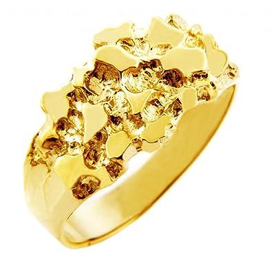 """Men s 14k Gold Nug Ring """"The Knight"""" Amazon"""
