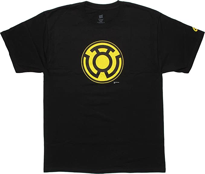 Amazon Sinestro Corps Symbol Black T Shirt Medium Novelty T