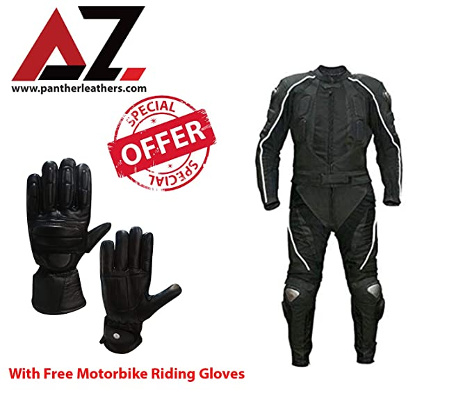 Motorbike Motorcycle Trouser Waterproof Riding Jacket Suit /& Leather Gloves