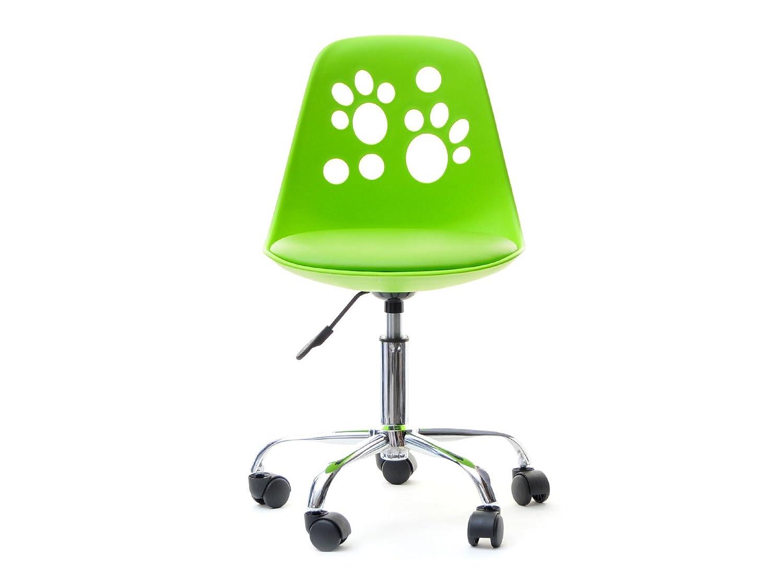 Foot – Sedia Girevole Regolabile dal Design Moderno e Originale per Scrivania Bambini (Verde Lime) Selsey