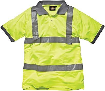 Dickies SA22075 - Alta visibilidad camisetas polo ylm amarilla,
