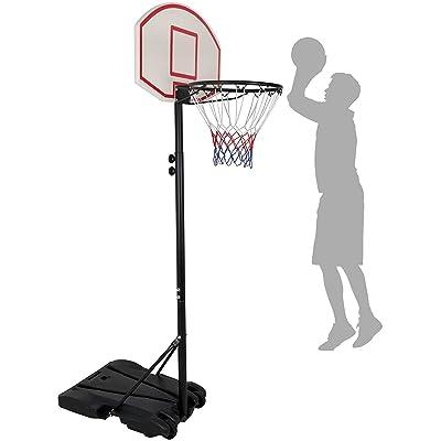 HomGarden Mini Portable Basketball Hoop Stand for Kids Juniors 8 ft Adjustable Height Backboard Starter Basketball System w/Wheels Indoor Outdoor: Toys & Games