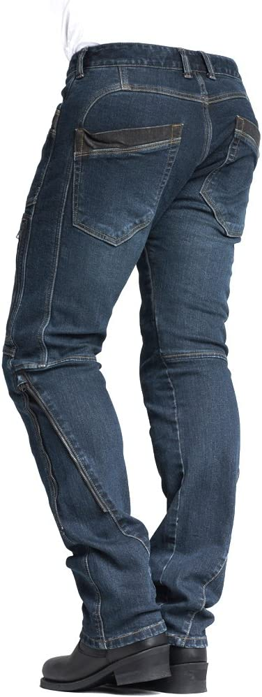 1604 Grey Size 36 MAXLER JEAN Biker Jeans for men Slim Straight Fit Motorcycle Riding Pants