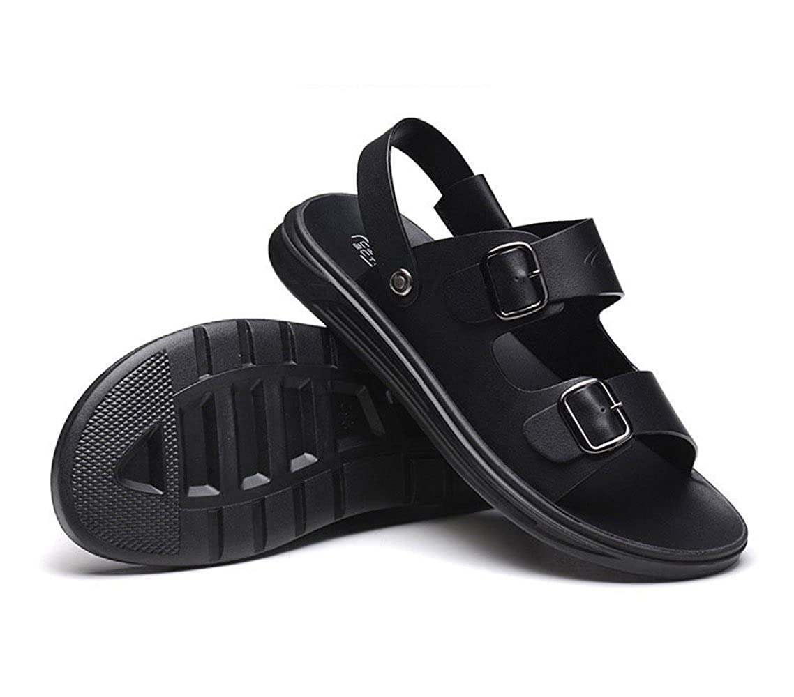 LEDLFIE Casual Sandalen Herren Sandalen und Hausschuhe Rutschfeste Plattform Casual LEDLFIE Beach Schuhe Sandalen schwarz 925eba