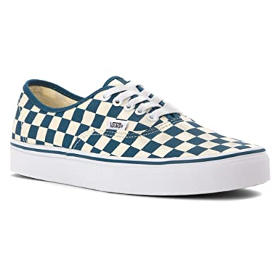 1566d73c74 Vans Authentic Checkerboard Classic White Moroccan Blue Mens Size 7.5  Womens Size 9 Skate Fashion Shoe