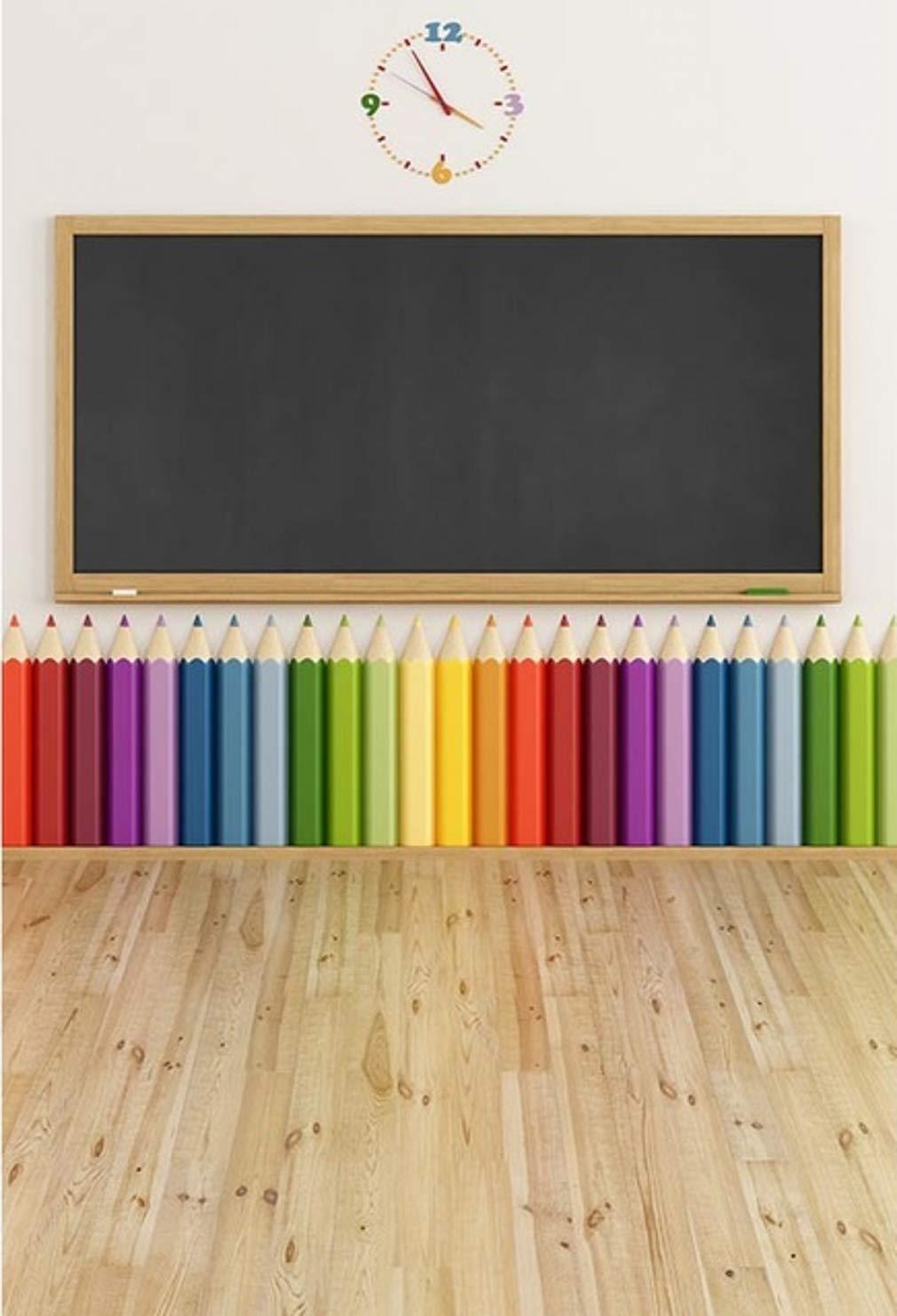 写真スタジオ用背景幕 黒板 上色鉛筆背景 5x7フィート   B07G758T9C