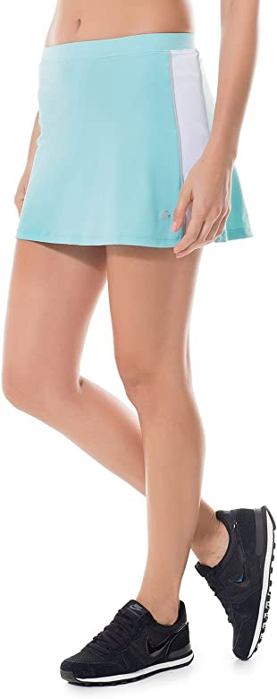 SYROKAN - Moda Falda Pelota De Tenis Deportiva Short incorporados para Mujer