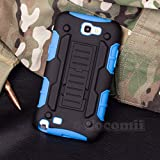 Galaxy Note 2 Case, Cocomii® [HEAVY DUTY] Galaxy Note 2 Robot Case **NEW** [ULTRA FUTURE ARMOR] Premium Belt Clip Holster Kickstand Bumper Case - Full-body Rugged Protective Cover for Samsung Galaxy Note 2 (Black/Blue) ★★★★★