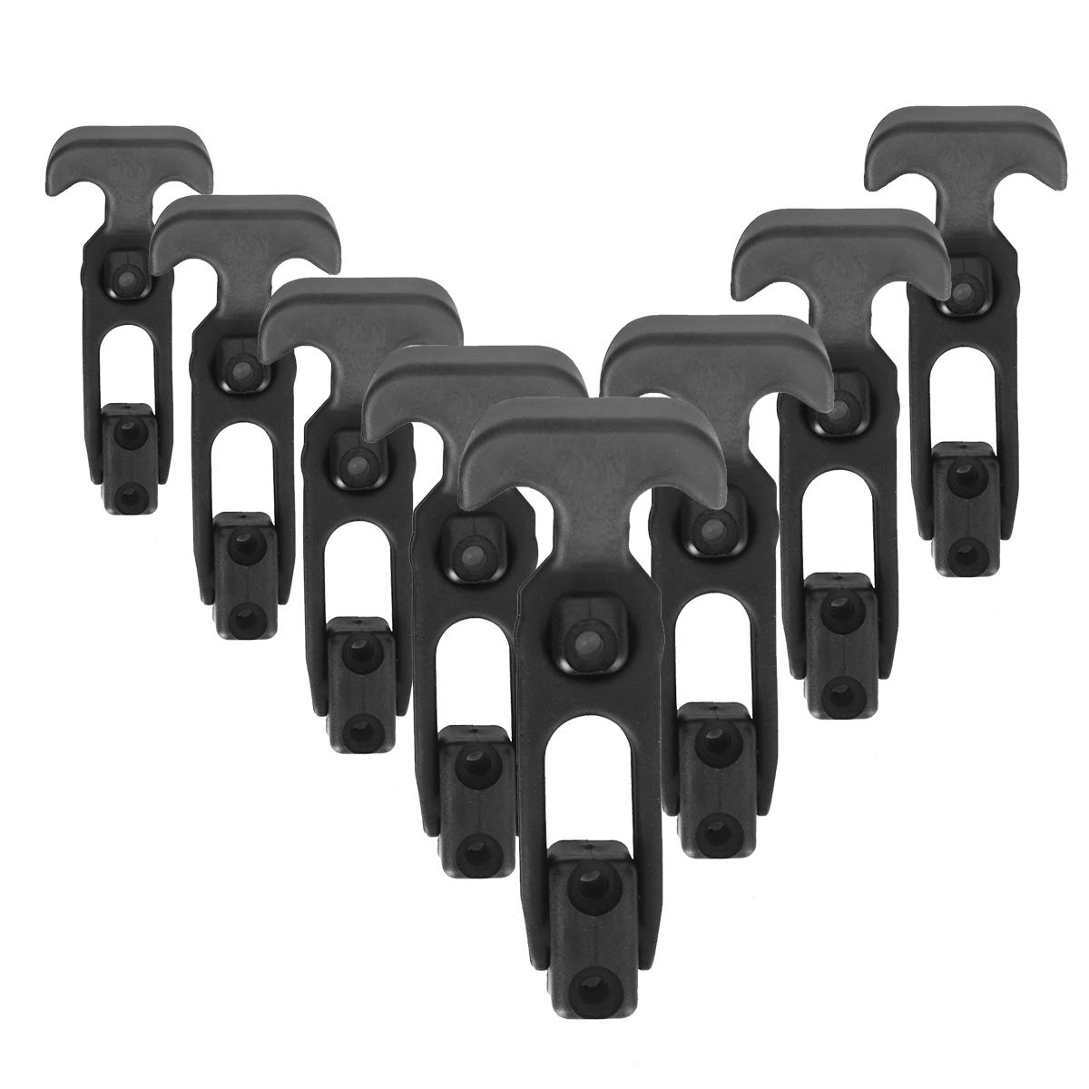 Hardtech 8 Pack Flexible Hasp RubberT-Handle Draw Latches for Mad Jax Cooler,Golf Cart Boat Farm Hood Tractor or Tool Box