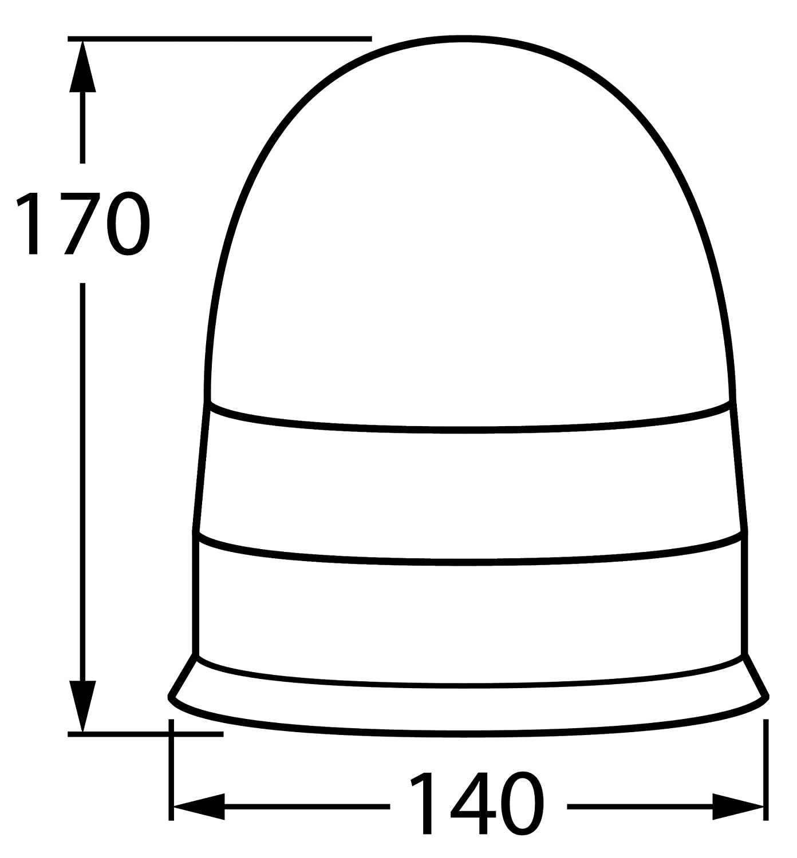 Varios Modelos AdLuminis L/ámpara hal/ógena Rundum Naranja Coche l/ámpara de Advertencia ECE R65/Vial Autorizaci/ón Blink l/ámpara 12/V 24/V