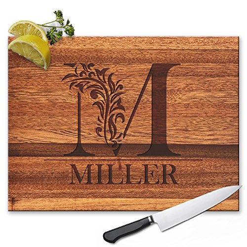 Froolu Cute Monogram custom cheese board for Initial...