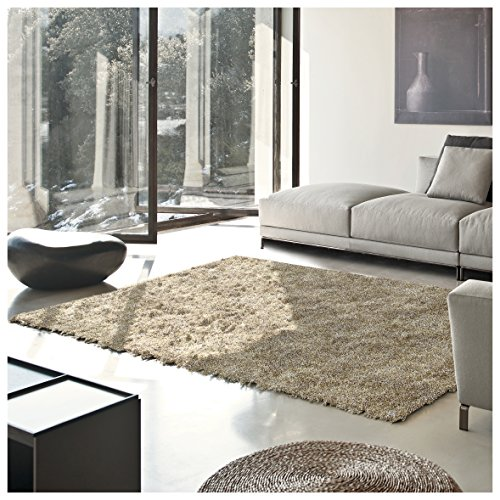Superior Elegant Shag Rug, Plush and Cozy Hand Tufted Area Rugs, Chic and Contemporary Eyelash Shag Rug with Cotton Backing - 8' x 10' Rug, (Cozy Beige Shag Rug)