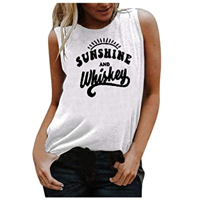 COOKI Women's Tank Tops Women Sleeveless Graphic Letter Print Tank Tops Funny Graphic Tee Shirts Summer Tops Blouse Shirts: Clothing