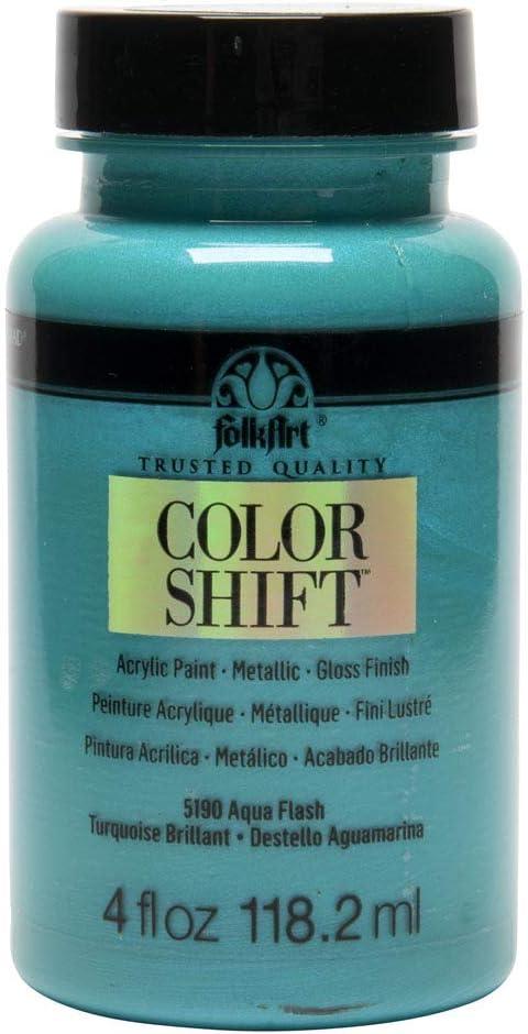 Desconocido FolkArt Color Shift Pintura acrílica Aqua Flash, 4 oz ...