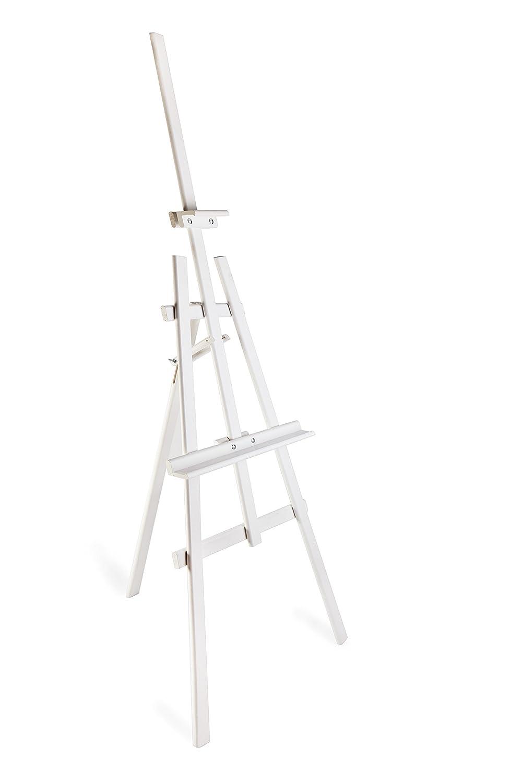 DWA Cavalletto da pittore ARTISTI GRANDI 1800mm struttura in legno di pino STUDIO EASEL - bianca