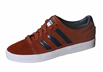 99283fdabc44 adidas Originals Rayado Low Baskets Chaussures de Skateboard Chaussures en Cuir  Marron - Marron - Marron