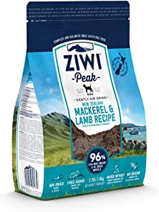 ZIWI Peak Air-Dried Dog Food – All Natural, High Protein, Grain Free & Limited Ingredient, with Superfoods (Mackerel & Lamb, 2.2 lb)