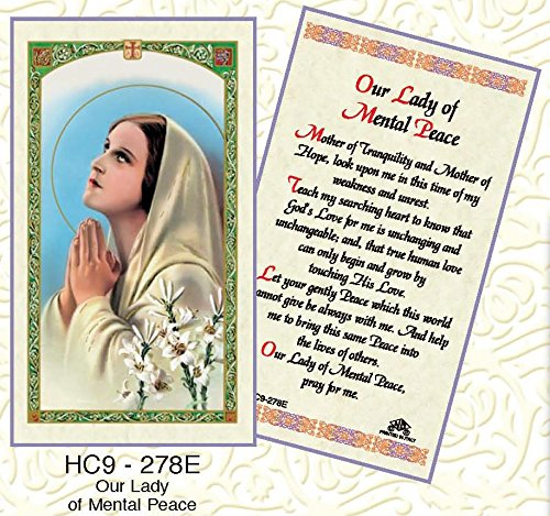 Our Lady of Mental Peace Paper Prayer Cards - Pack of 100 - HC9-278E-L by Discount Catholic Store