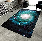 LELVA Galaxy Rugs Space Outer Rugs Living Room Bedroom Rugs Creative Design Rugs Non-slip (120CM x 170CM)