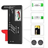 Battery Checker,Universal Battery Tester for AA AAA C D 9V 1.5V Button Cell Batteries
