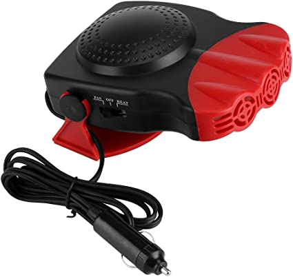 12V Car Portable 2 in 1 150W Heating Cooling Heater Cool Fan Defroster Demister