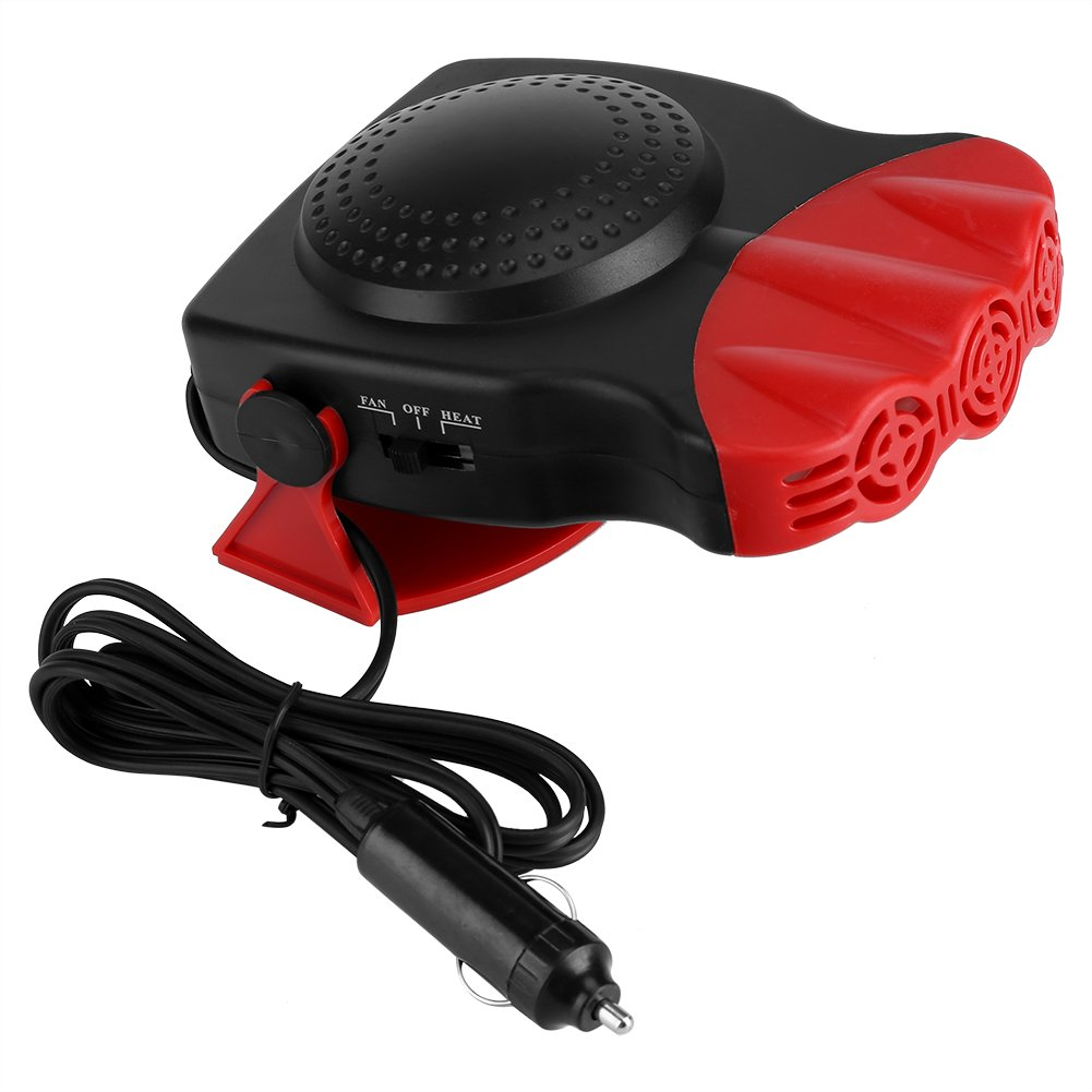 Portable Car Heater, Keenso 150W 12V Car Truck Auto 2 In 1 Heating Cooling Function Windshield Demister Defroster Hot Warm Heater Cooling Fan Fast Heating Dryer Window Fan