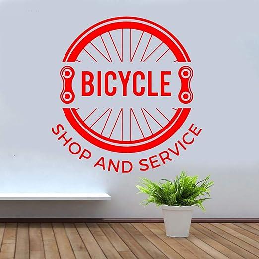 yaoxingfu Tienda de Bicicletas y Servicio Pegatina de Pared Vinilo ...