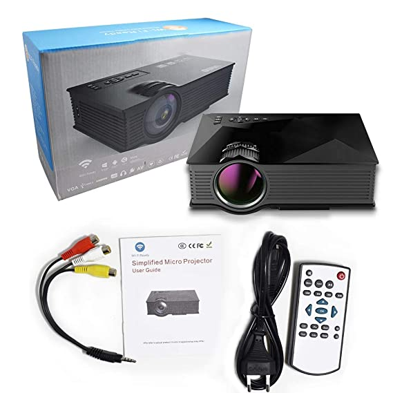 Amazon.com: QFTFX 2000 Lumens Projector UC46 Upgrade Video ...
