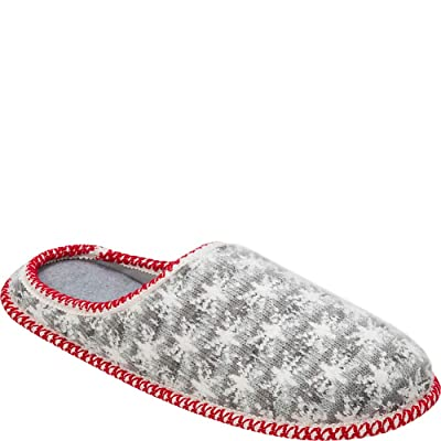 Dearfoams Men's Family Plan Stripe Knit Clog Slipper, Light Heather Grey, M Regular US: Shoes