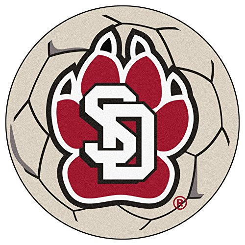 Dakota Soccer Ball Rug - South Dakota Soccer Ball Mat 27 Diameter