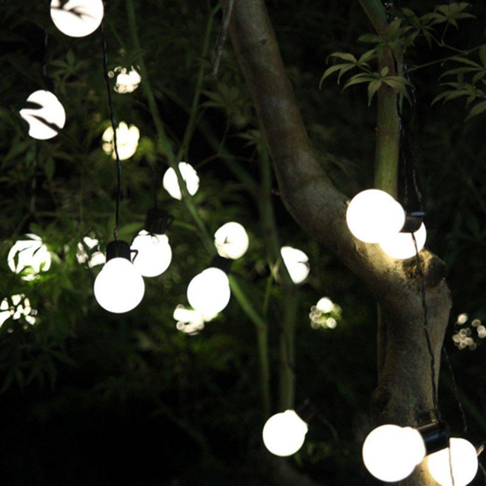 Peaubogo 8.35ft/2.5M 10LED Solar String Light Bulbs, Garden Solar Fairy Lights Patio Lights Outdoor Xmas Fairy Decorative Lamp Warm White