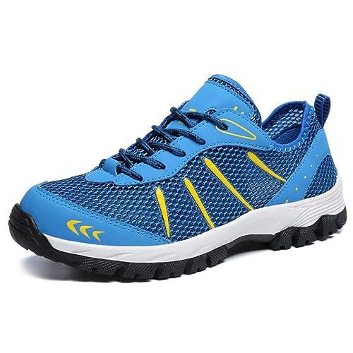 Hombres Entrenadores Atlético Zapatillas De Senderismo Malla Transpirable Sneakers Caminar Gimnasio Zapatillas Sport Run Zapatos: Amazon.es: Zapatos y ...
