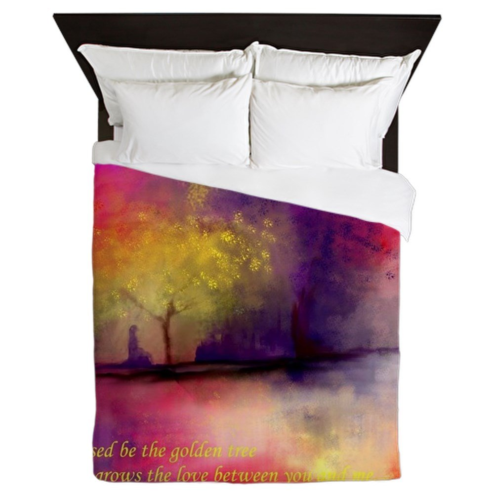 CafePress - Golden Tree - Queen Duvet Cover, Printed Comforter Cover, Unique Bedding, Microfiber by CafePress