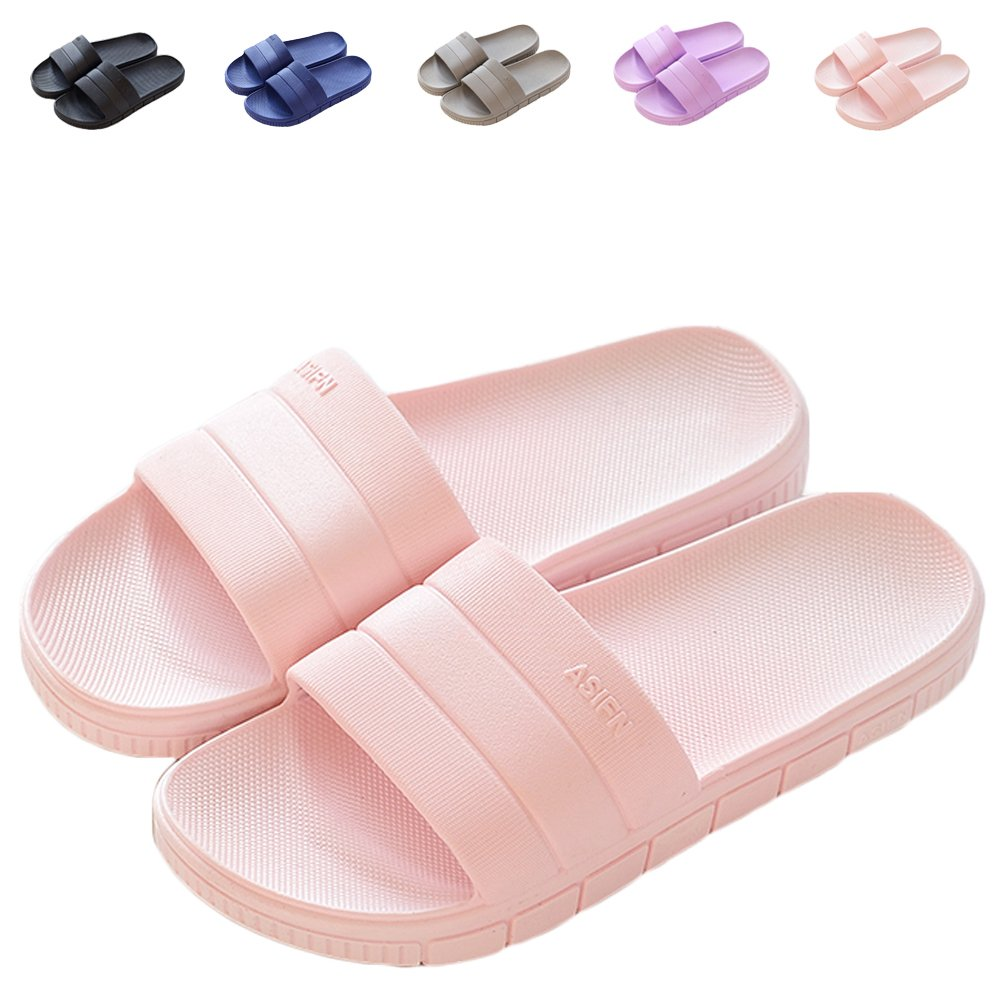 LINE BLUE Women and Men Bath Slipper Anti-Slip For Indoor Home House Sandal,Pink,40.41