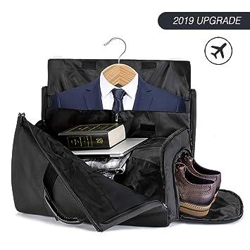 6f4e57233e Amazon.com  Duffle Bag Garment Bag Carry On Weekend Bag Flight Bag For  Travel Sports Gym (Including Shoes and Suits Compartment)  Lingyingte