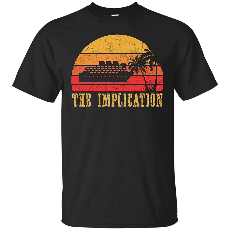WilmaJMc Mens The Implication Black Boat T Shirt
