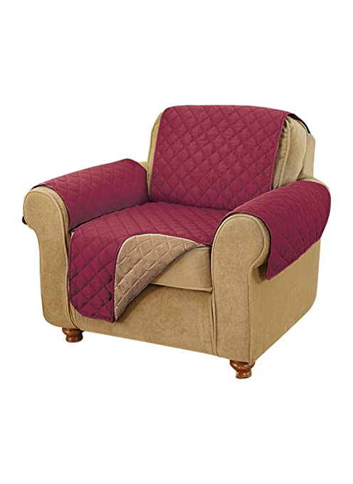 Fantastic Carol Wright Gifts Reversible Furniture Covers Burgundy Beatyapartments Chair Design Images Beatyapartmentscom