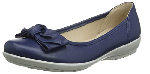 ee1ba5c7784 Hotter Women s s Jewel Closed Toe Ballet Flats  Amazon.co.uk  Shoes ...