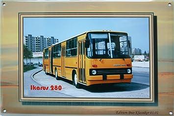 Amazonde Blechschild Busoldtimer Des Ostensddr Ikarus 280 Ca