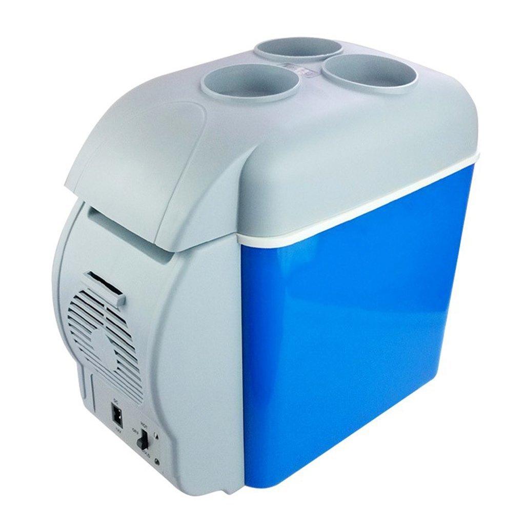 LT& NT Réfrigérateur de Voiture 7.5 litres Portable Mini Frigo Électrique Chaud et Cool Box 12 V Congélateur Refroidisseur avec Porte-gobelet pour Camping de Pique-Nique de Voyage en Plein Air