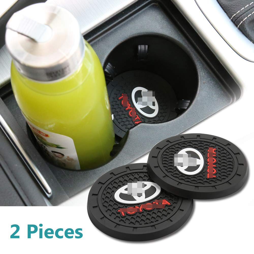 fit acura Auto Sport 2.75 Inch Diameter Oval Tough Car Logo Vehicle Travel Auto Cup Holder Insert Coaster Can 2 Pcs Pack